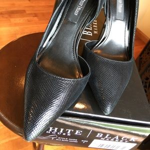 96ad06c81c White House Black Market Shoes - WHBM ELLA LIZARD-EMBOSSED D'ORSAY PUMPS 7